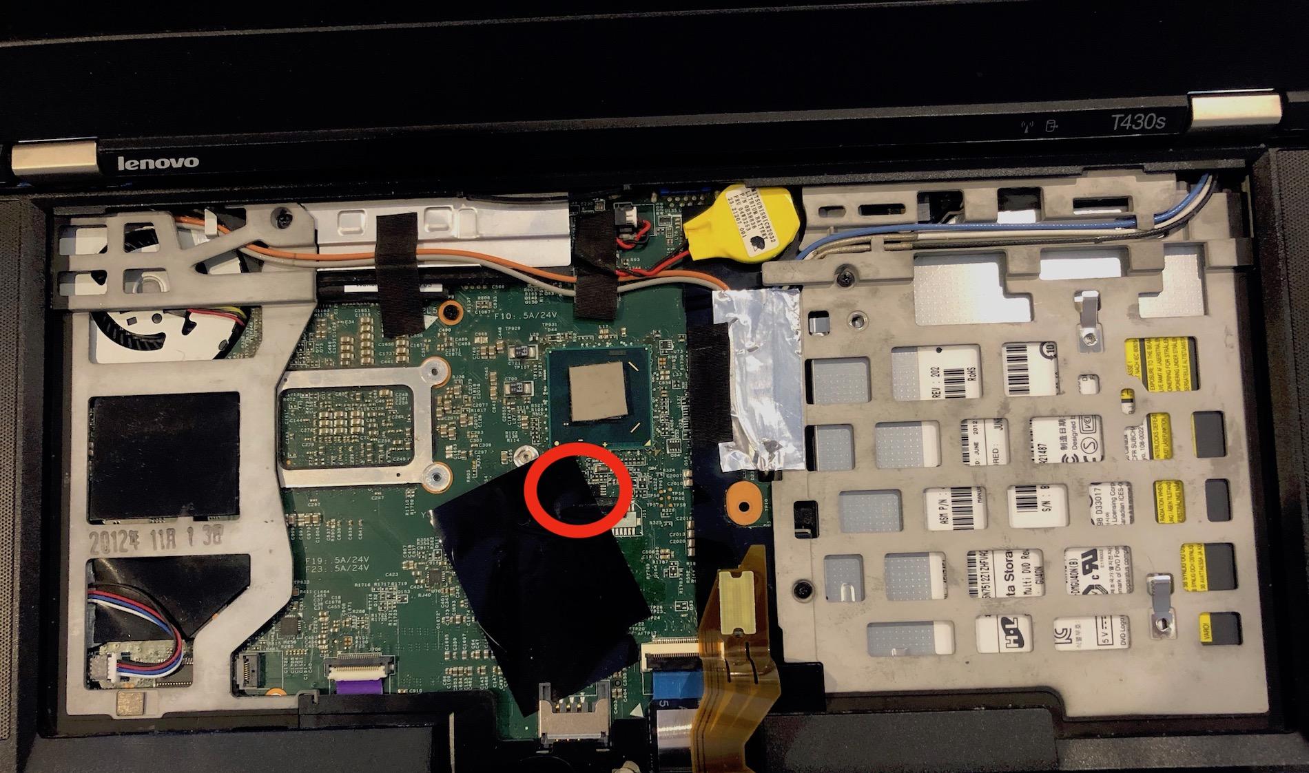 Lenovo Thinkpad T430s Supervisor Password Removal • htr3n's